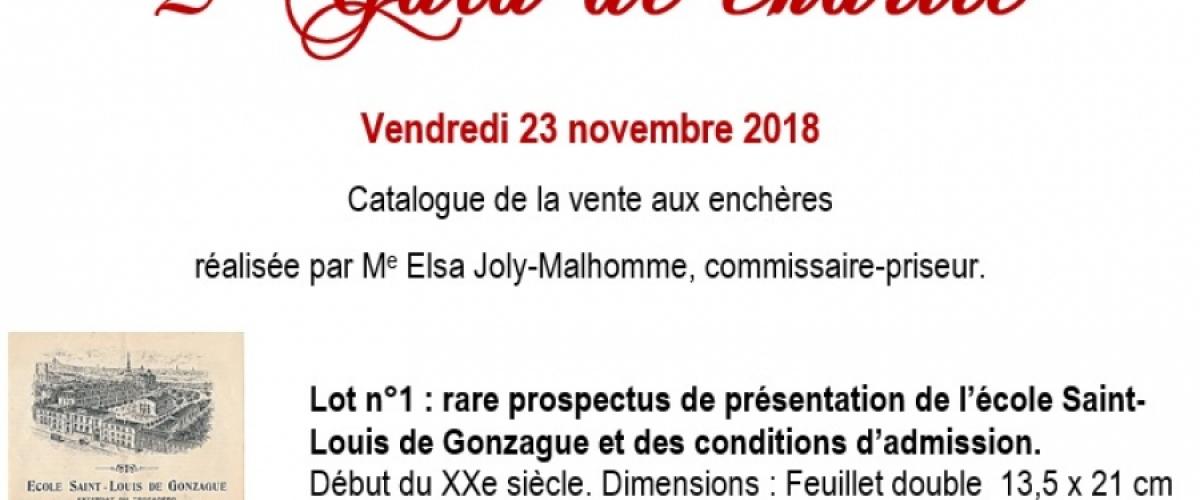 Catalogue de la vente aux enchères du Gala 2018