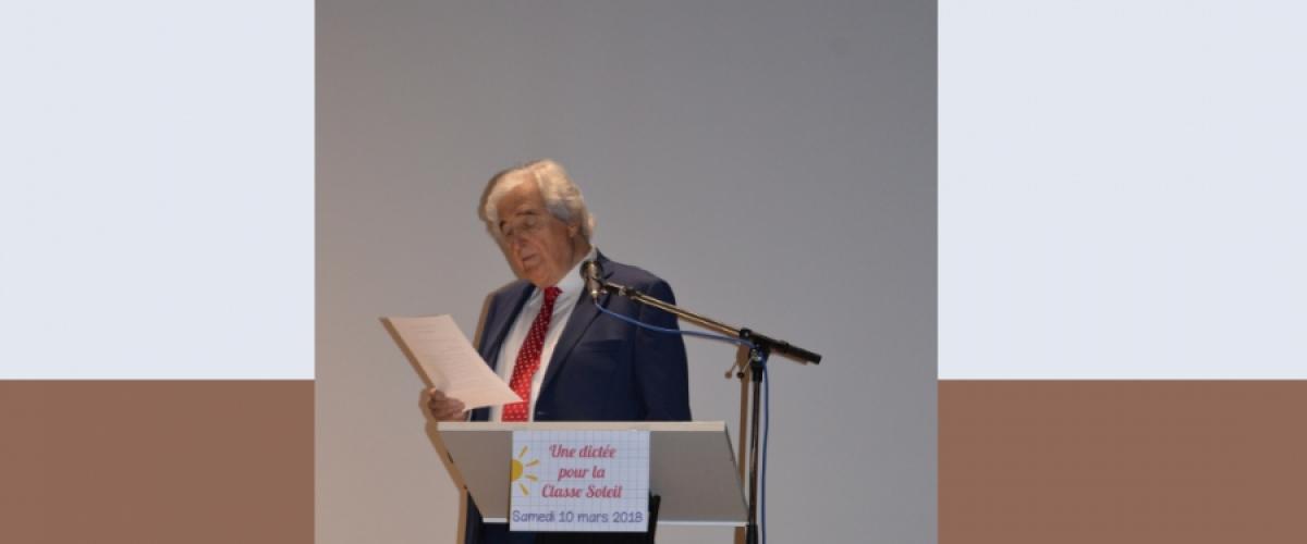 Notre gratitude pour l'académicien Jean-Loup Dabadie