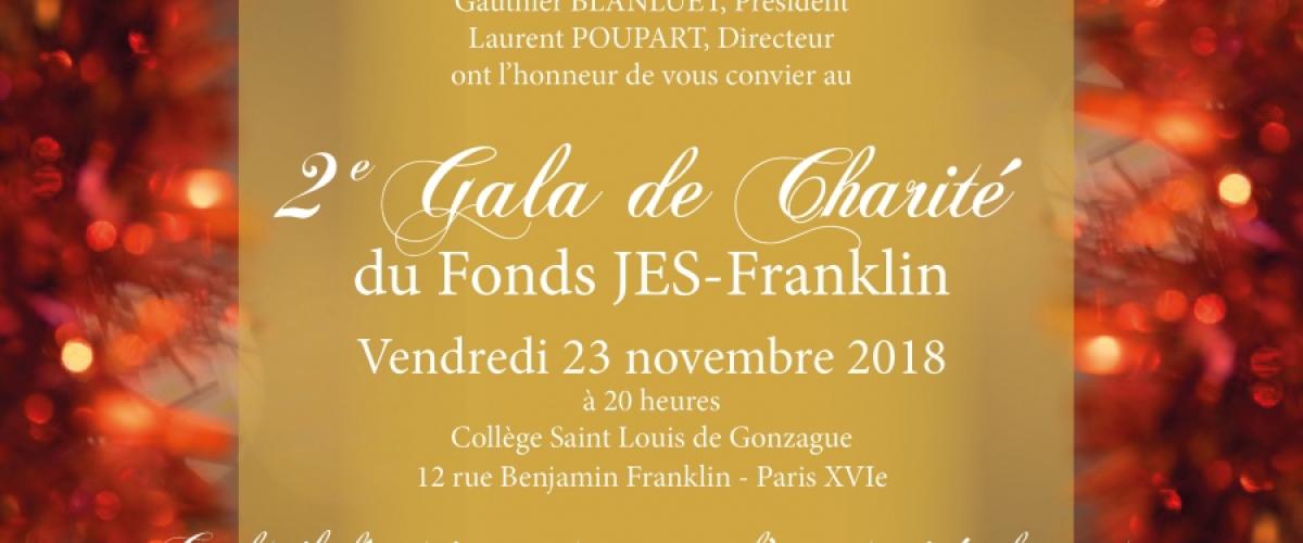 2e Gala de charité du Fonds JES-Franklin - Vendredi 23 novembre 2018